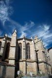 Chatedral w Limoux, Francja fotografia royalty free