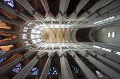Chatedrale St Pierre of Beauvais - interior 17. Central Nave looking up. Photo: 2014 stock images