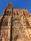 Notre Dame. Chatedrale in Strassbourg royalty free stock photography