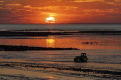 Chatelaillon Plage - Sunset - France royalty free stock photos