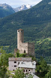 Chatelard Castle, La Salle, Italy Stock Photography