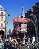 Chatelet Metro Station, Paris. Royalty Free Stock Images