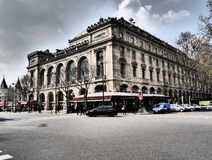 Chatelet teater Paris Frankrike Royaltyfria Bilder