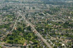 Chatellerault city aerial view Stock Image