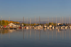 Chatfield Marina. In Chatfield State Park at sunrise Stock Photography