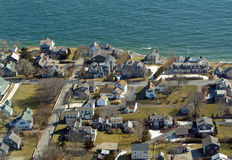 Chatham, Cape Cod Aerial Photo stock photography