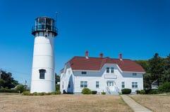 Chatham fyr på Cape Cod Royaltyfria Foton