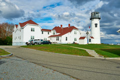 Chatham fyr på Cape Cod Royaltyfri Foto