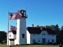Chatham-Leuchtturm, Chatham-Masse Lizenzfreie Stockfotos