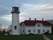 Chatham Lighthouse. Lighthouse at Chatham, Cape Cod Massachusetts Stock Photo