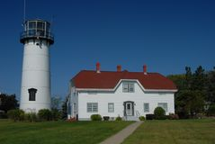 Chatham Lighthouse, Cape Cod. Chatham Lighthouse summer time on Cape Cod stock images