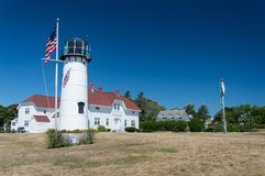 Chatham Lighthouse at Cape Cod. USA royalty free stock images