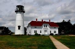 Chatham, MA: Chatham-Leuchtturm Lizenzfreies Stockfoto