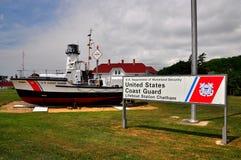 Chatham, MA: Coast Guard Cutter at Chatham Light Royalty Free Stock Image