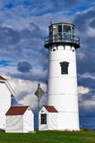 Chathamvuurtoren in Cape Cod Royalty-vrije Stock Fotografie