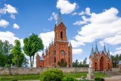 Chatholic kościół w Ivenets, Minsk region, Białoruś Zdjęcie Stock