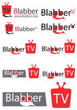Chating tv logo. Chating tv or television logo for website or your video channel Stock Images