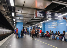 Chatlet Les Halles. Parisian subway station Stock Photo