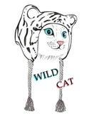 Chaton dans le chapeau de léopard Photos stock