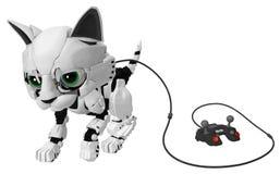 Chaton robotique, contrôleur de câble Photographie stock