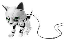 Chaton robotique, de câble Image libre de droits