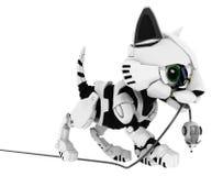 Chaton robotique, souris attrapée Photographie stock libre de droits