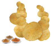 ChatPata Masala flavored chips Stock Images