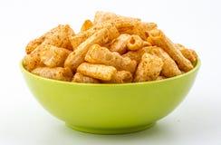 Chatpatta面团Fryums食物 免版税库存图片