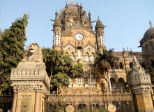 Chatrapati shivaji终端(CST)孟买印度 库存照片