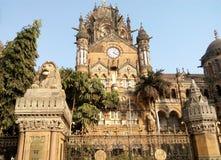 Chatrapati shivaji slutliga (CST) Mumbai Indien arkivfoto