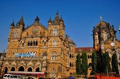 Chatrapati Shivaji Terminus Mumbai stock photography