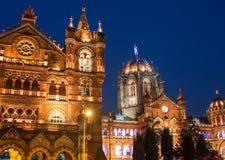 Chatrapati Shivaji Terminus tidigare som är bekant som Victoria Terminus arkivbild