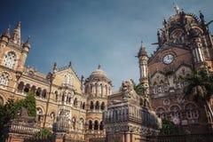 Chatrapati Shivaji Terminus tidigare som är bekant som Victoria Terminus fotografering för bildbyråer