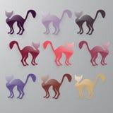 9 chats Photographie stock libre de droits