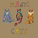 Chats décoratifs magiques illustration stock