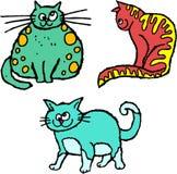 chats délabrés illustration de vecteur