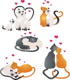 Chats d'amour illustration stock