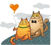 Chats d'amour Images libres de droits