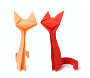 Chats d'origami Photographie stock