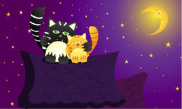 Chats dans l'amour illustration stock