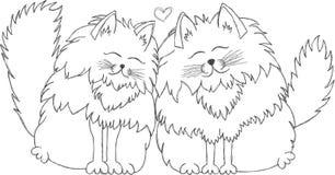 Chats dans l'amour Photos stock