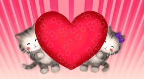 Chats dans l'amour Photographie stock libre de droits