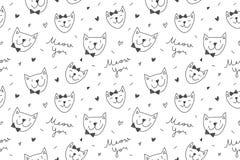 Chats dans le modèle d'amour Photographie stock libre de droits