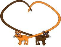 chats deux Illustration Libre de Droits
