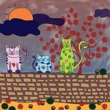 Chats en automne Image stock