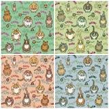 Chats et créatures Illustration de Vecteur
