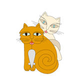 Chats et souris Image stock