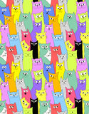 chats Fond drôle sans joint illustration de vecteur