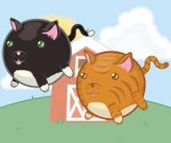 Chats mignons d'animaux de ferme illustration de vecteur