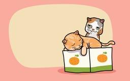 Chats mignons du vecteur deux Image libre de droits